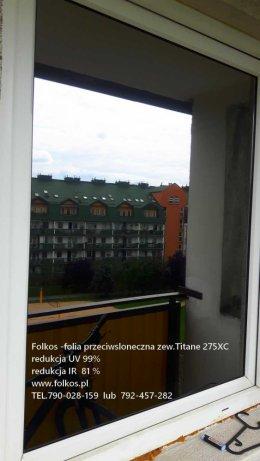 Folia zewnetrzna na okna Titane 275XC -rdukcja IR 81%