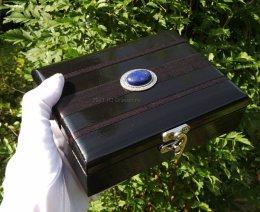 Pudełko kasetka karty Tarota Lenormand lapis lazuli prezent