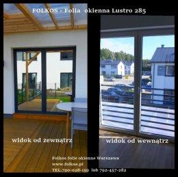 Folia wenecka -Lustro weneckie Warszawa OKlejanie szyb -folia na okna